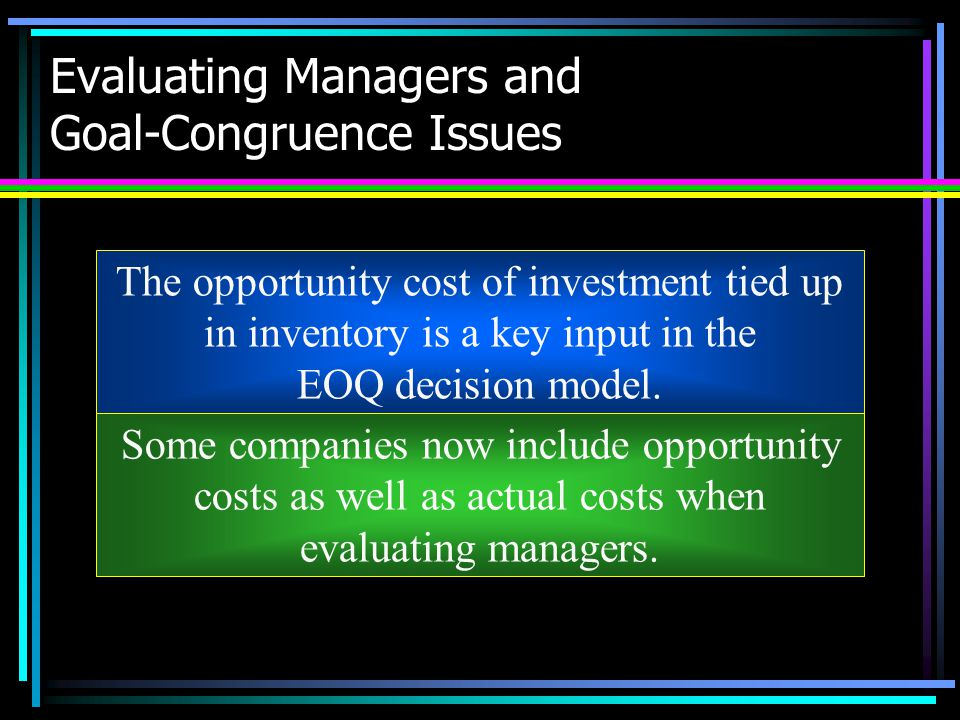 Evaluating Managers and Goal-Congruence Issues