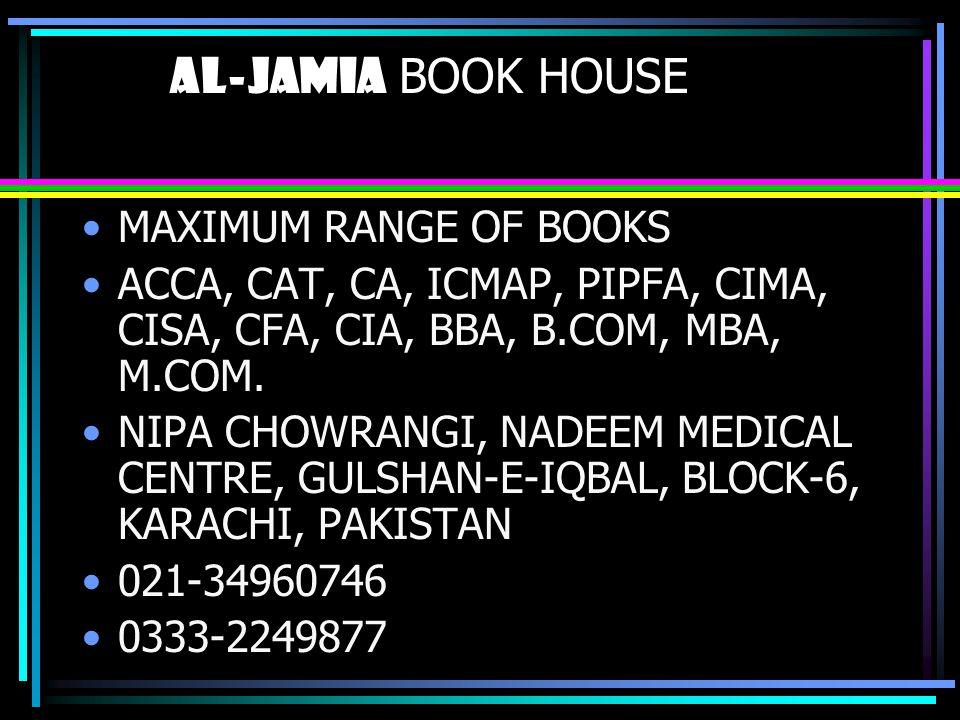 al-jamia BOOK HOUSE MAXIMUM RANGE OF BOOKS