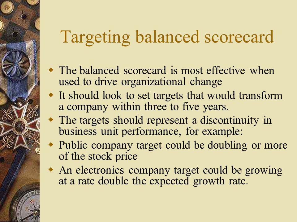 Targeting balanced scorecard