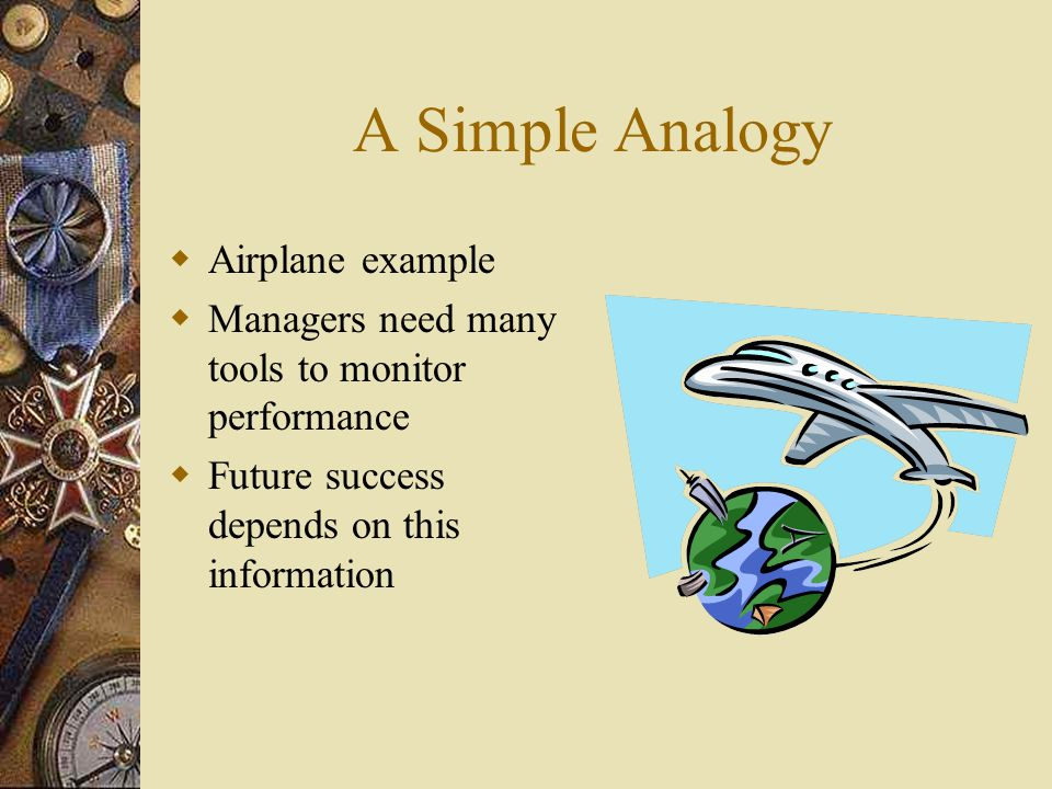 A Simple Analogy Airplane example