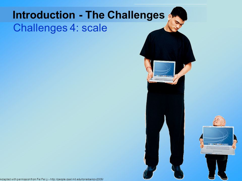 Introduction - The Challenges Challenges 4: scale