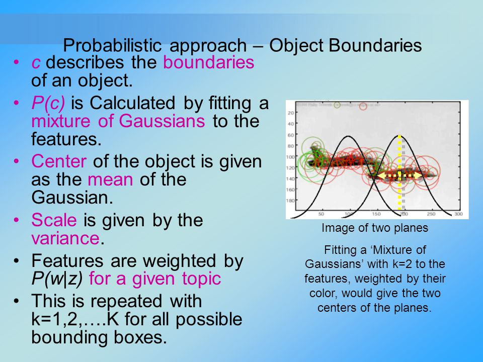 Probabilistic approach – Object Boundaries