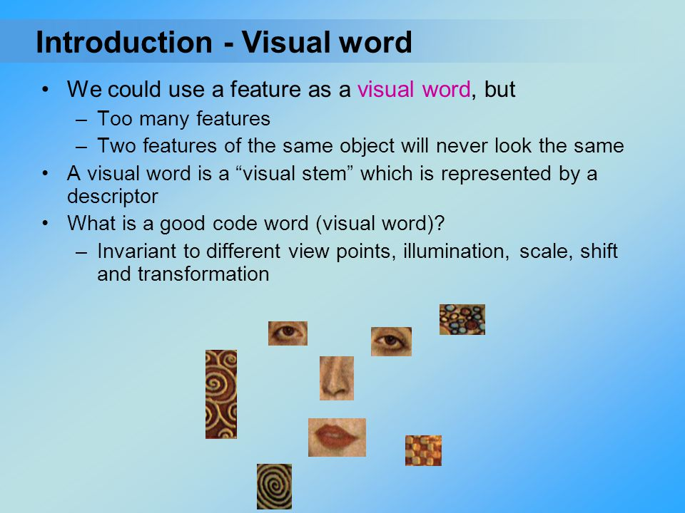Introduction - Visual word