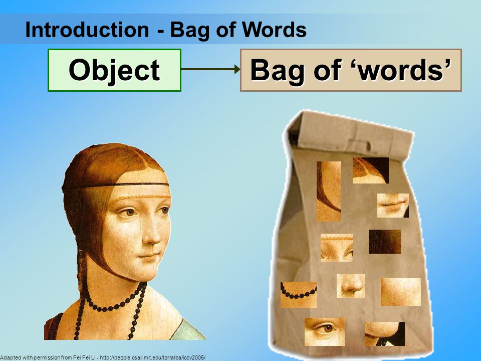 Object Bag of 'words' Introduction - Bag of Words