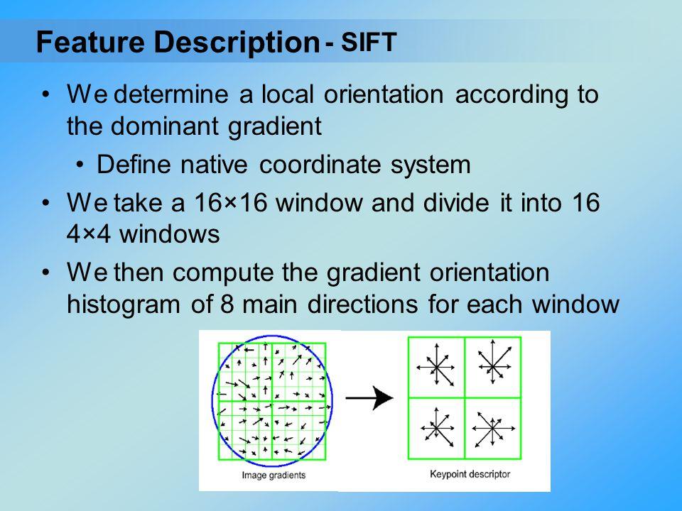 Feature Description - SIFT
