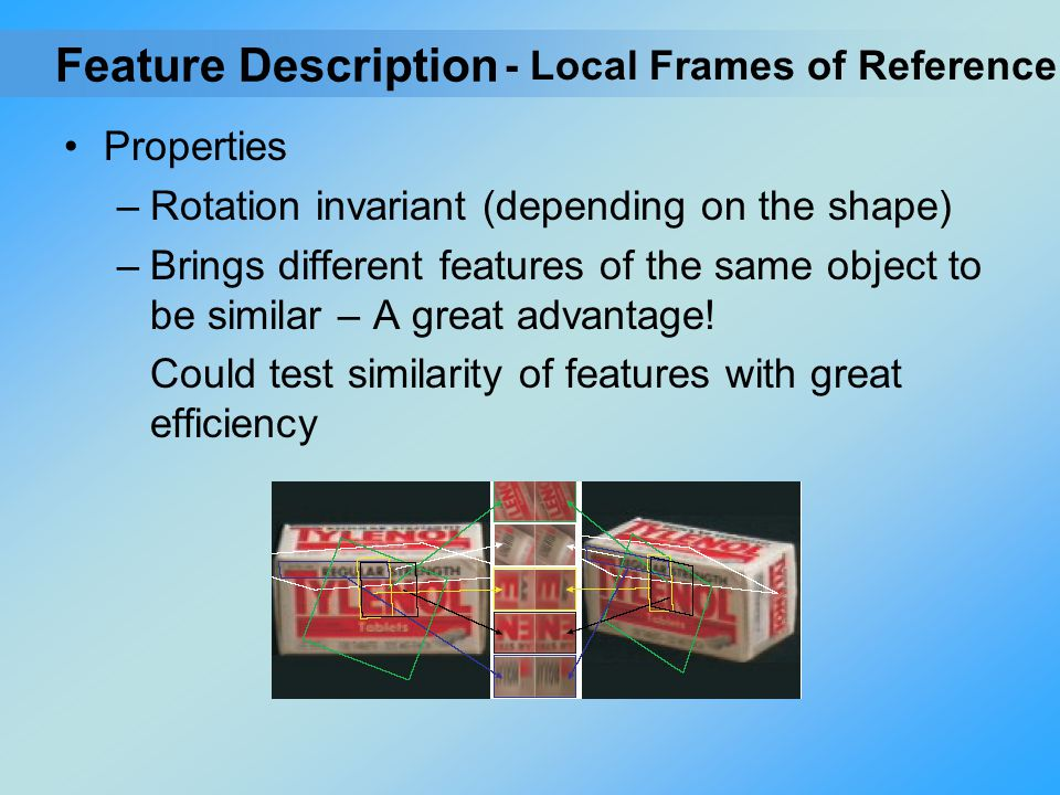 Feature Description - Local Frames of Reference Properties