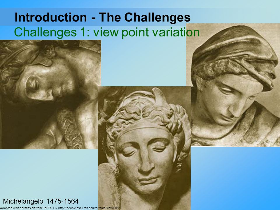 Challenges 1: view point variation