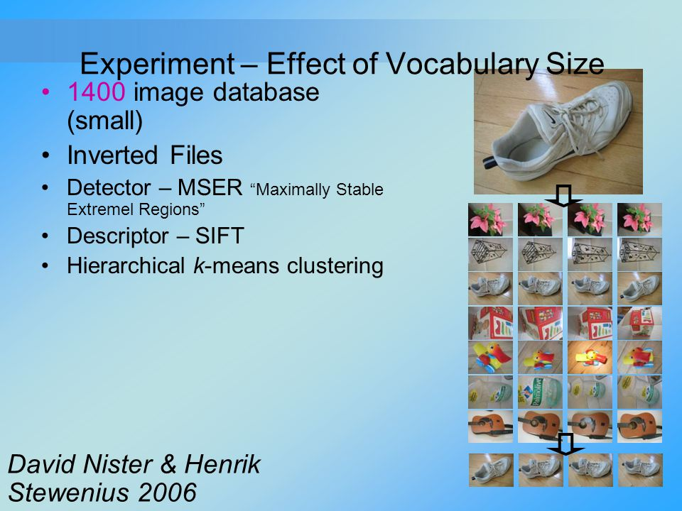 Experiment – Effect of Vocabulary Size