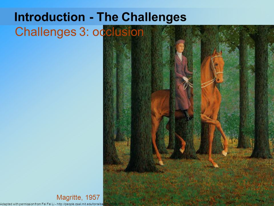 Challenges 3: occlusion