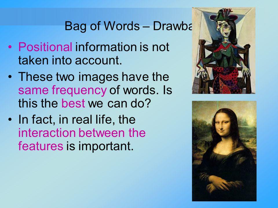 Bag of Words – Drawbacks