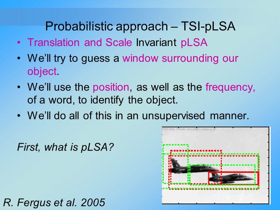 Probabilistic approach – TSI-pLSA