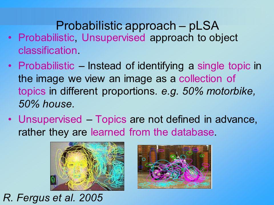 Probabilistic approach – pLSA