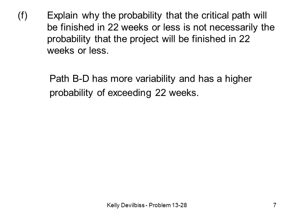 Kelly Devilbiss - Problem 13-28