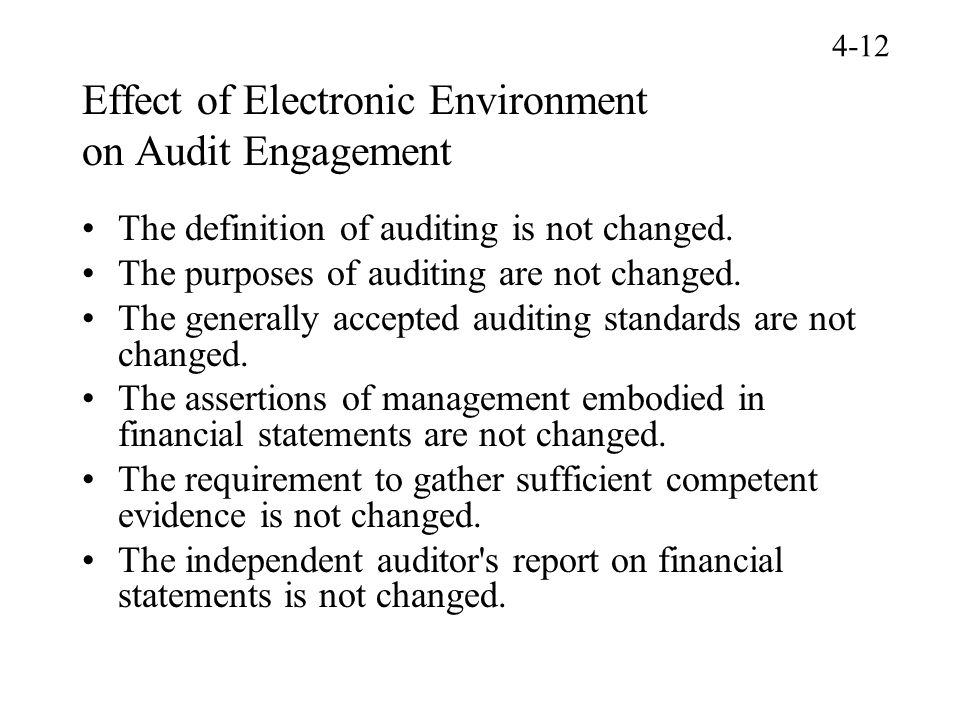 Effect of Electronic Environment on Audit Engagement