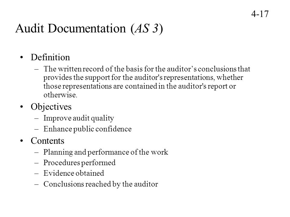 Audit Documentation (AS 3)