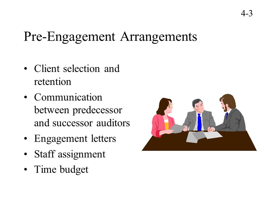 Pre-Engagement Arrangements