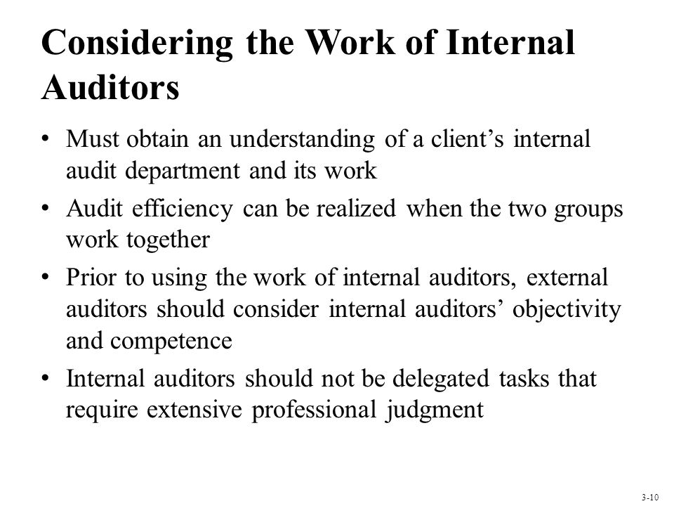 Considering the Work of Internal Auditors