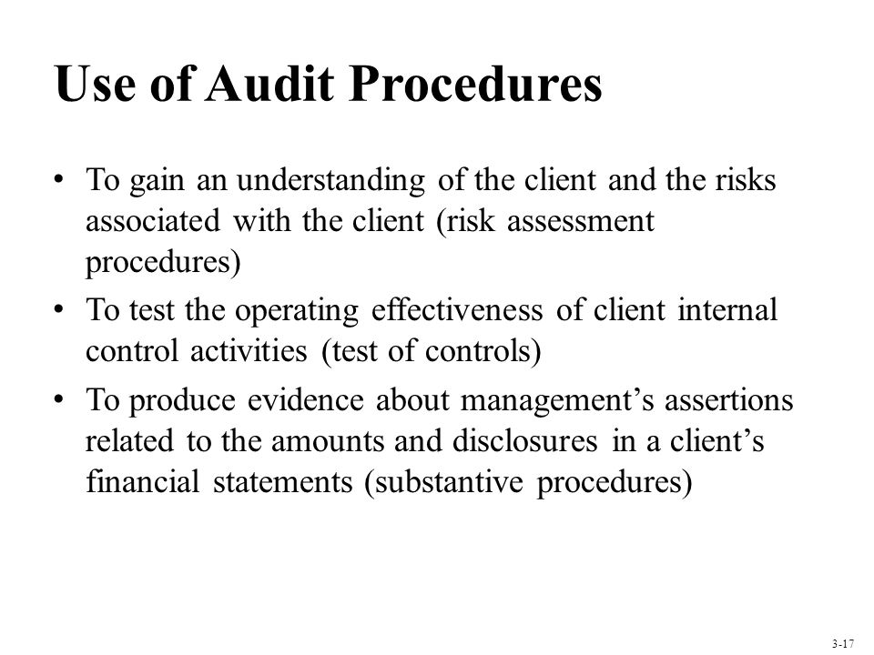 Use of Audit Procedures