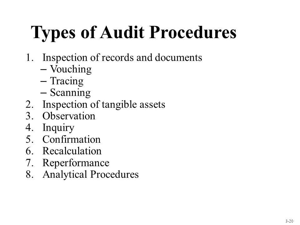 Types of Audit Procedures
