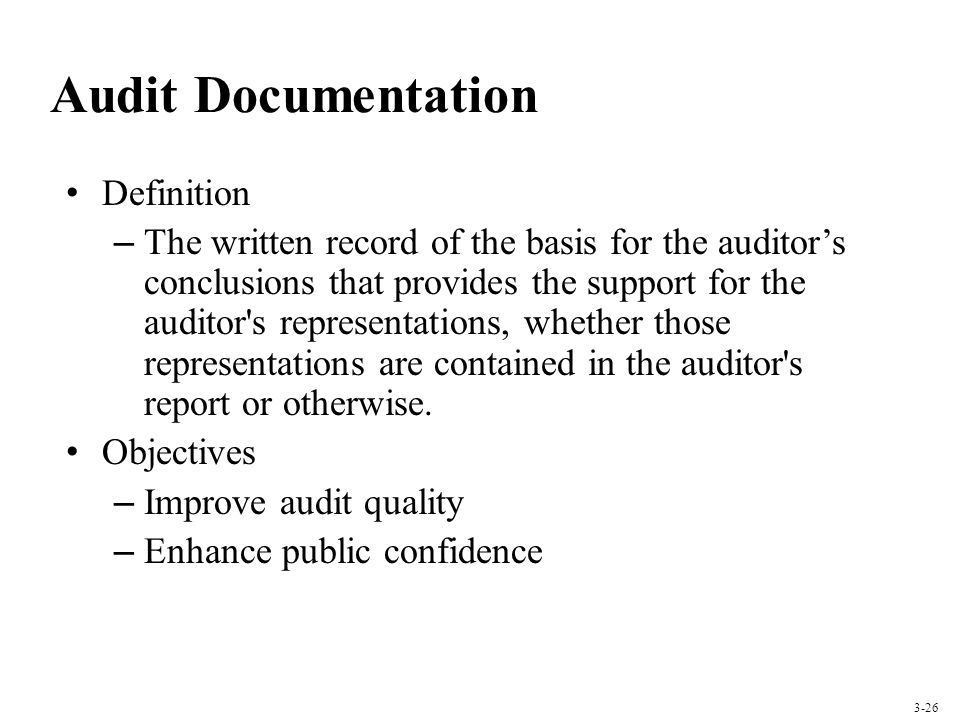 Audit Documentation Definition