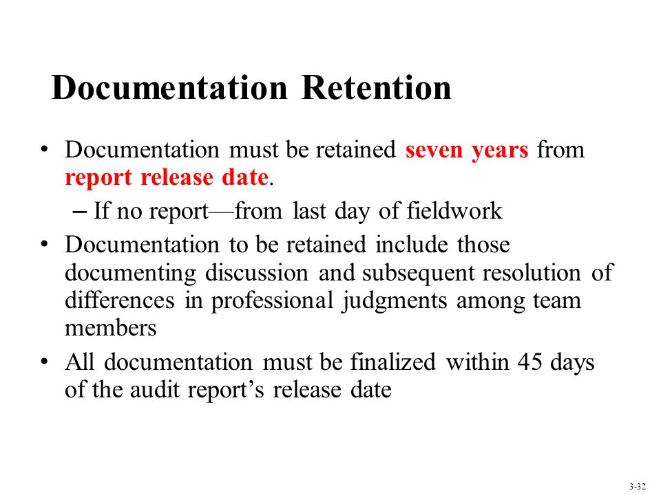 Documentation Retention
