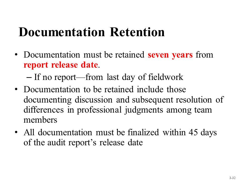Documentation Retention