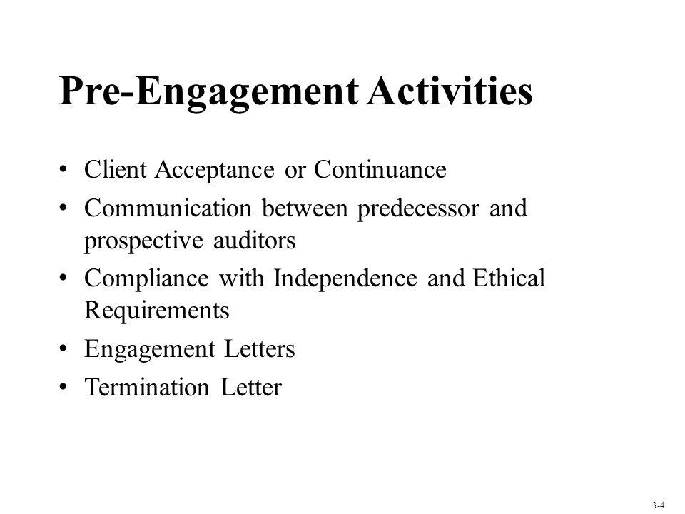 Pre-Engagement Activities