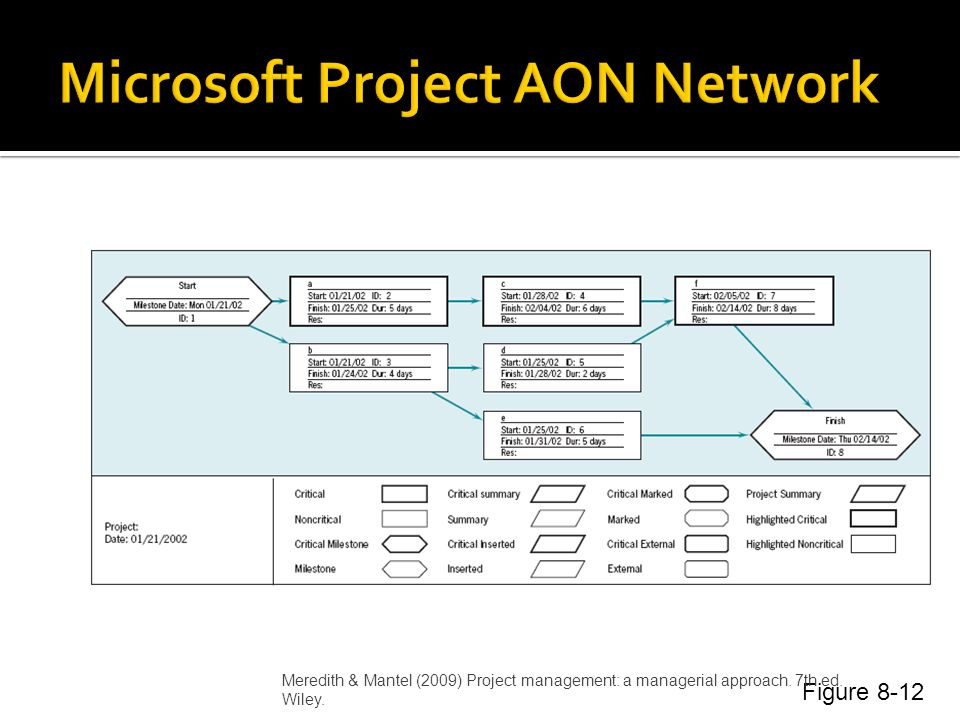 Microsoft Project AON Network