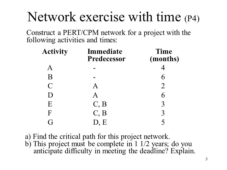 Network exercise with time (P4)