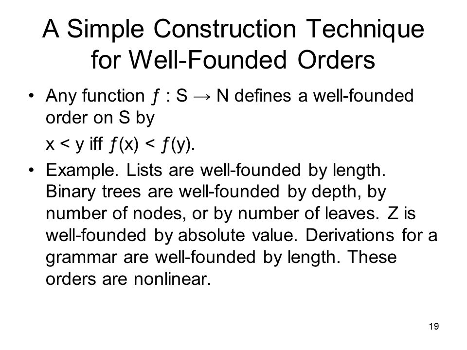 A Simple Construction Technique for Well-Founded Orders
