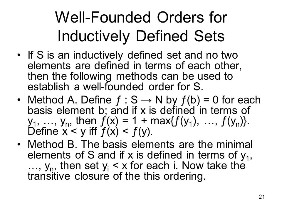 Well-Founded Orders for Inductively Defined Sets
