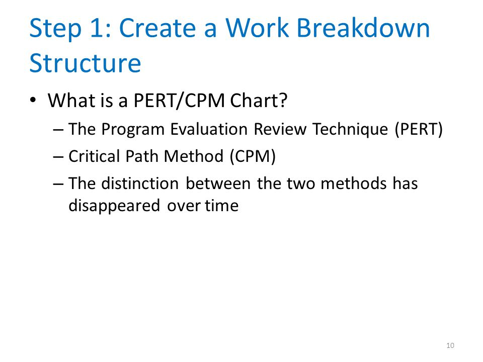 Step 1: Create a Work Breakdown Structure
