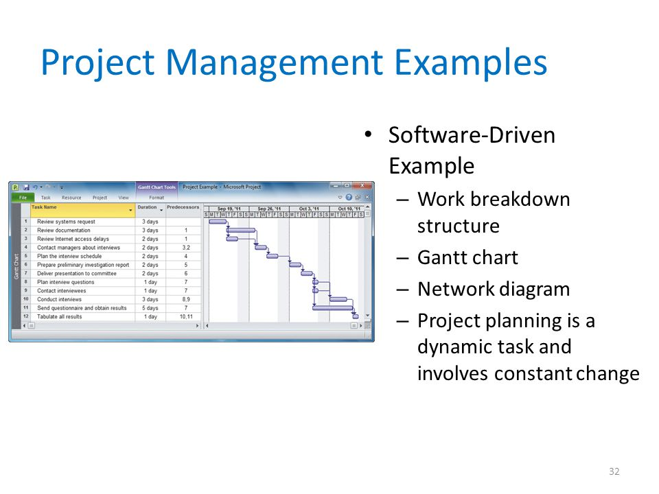 Project Management Examples