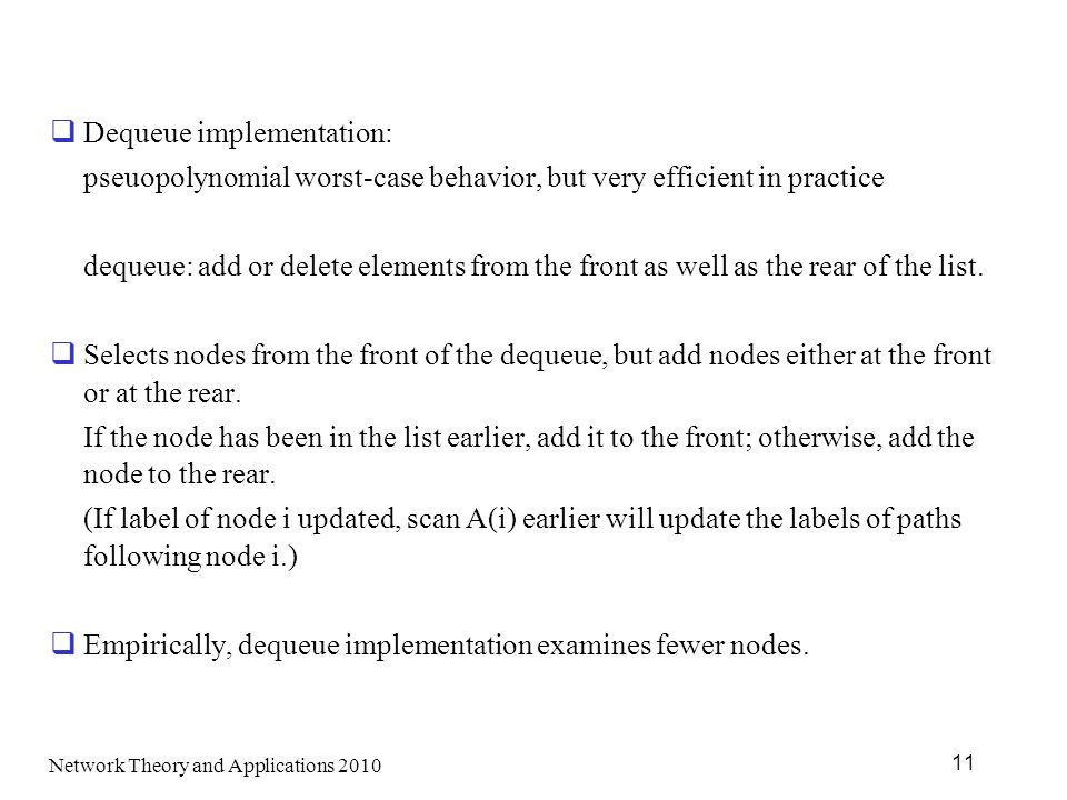 Dequeue implementation: