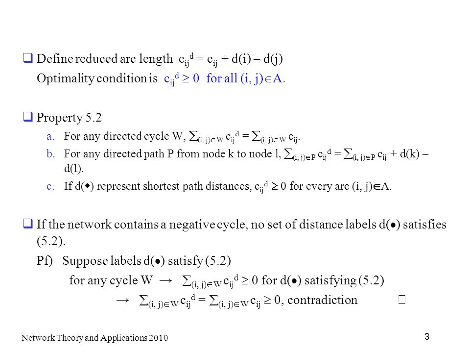 Define reduced arc length cijd = cij + d(i) – d(j)