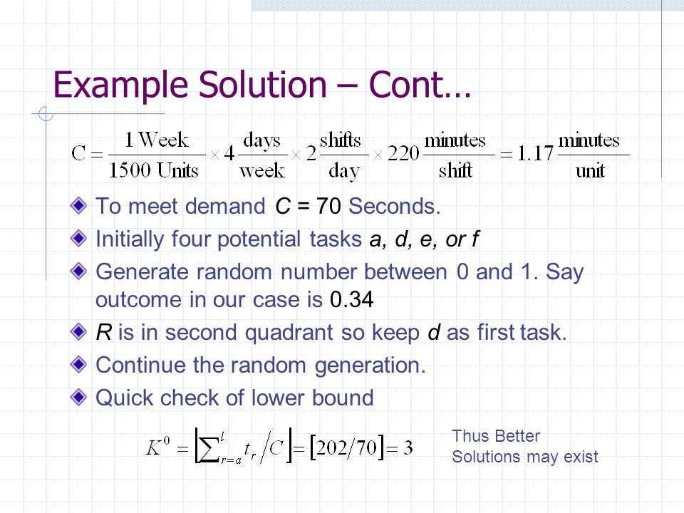 Example Solution – Cont…