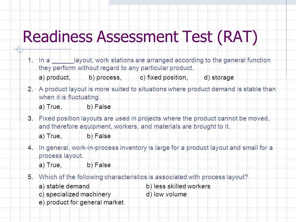 Readiness Assessment Test (RAT)