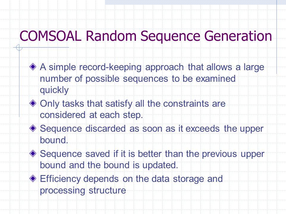 COMSOAL Random Sequence Generation