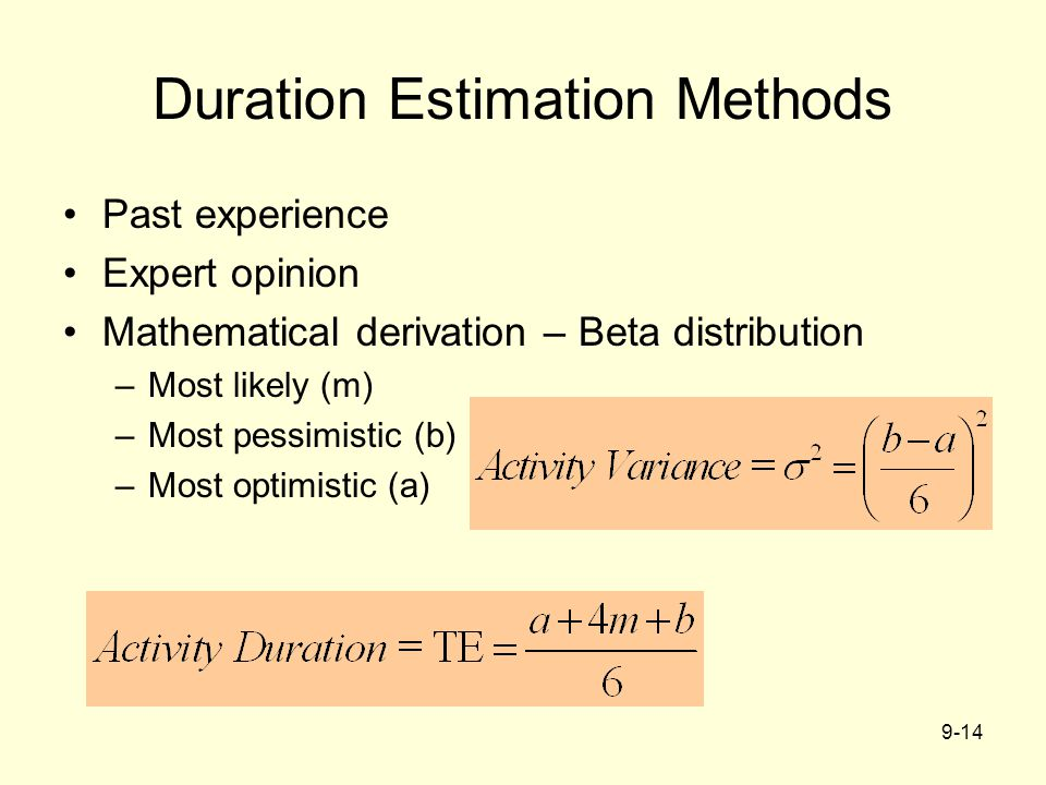 Duration Estimation Methods