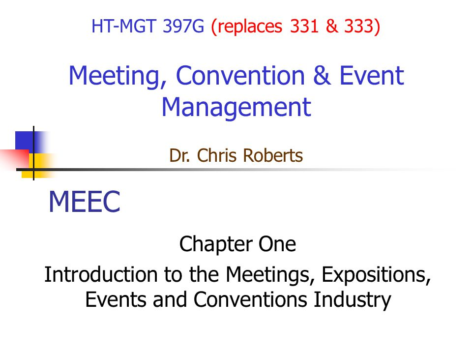 Meeting, Convention & Event Management