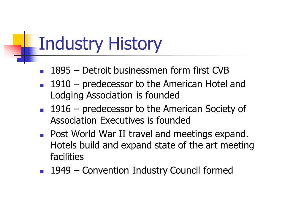 Industry History 1895 – Detroit businessmen form first CVB