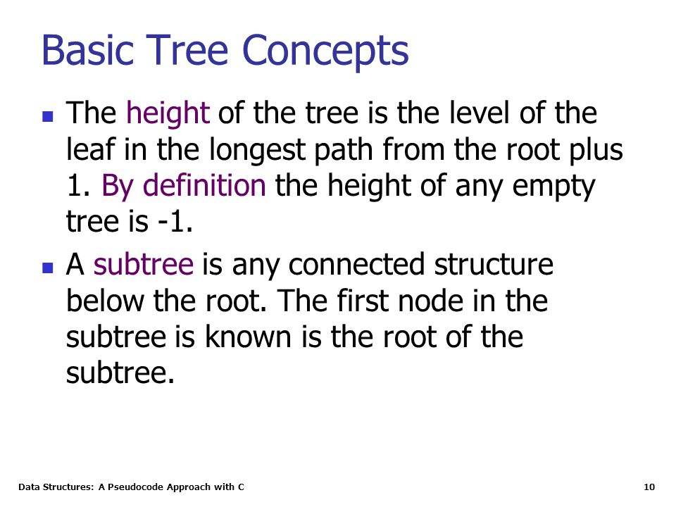 Basic Tree Concepts