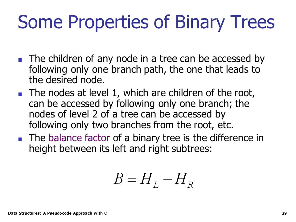 Some Properties of Binary Trees