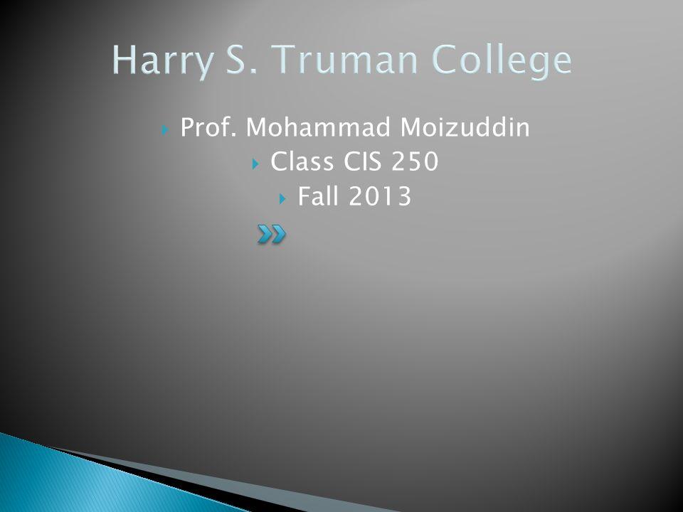 Prof. Mohammad Moizuddin