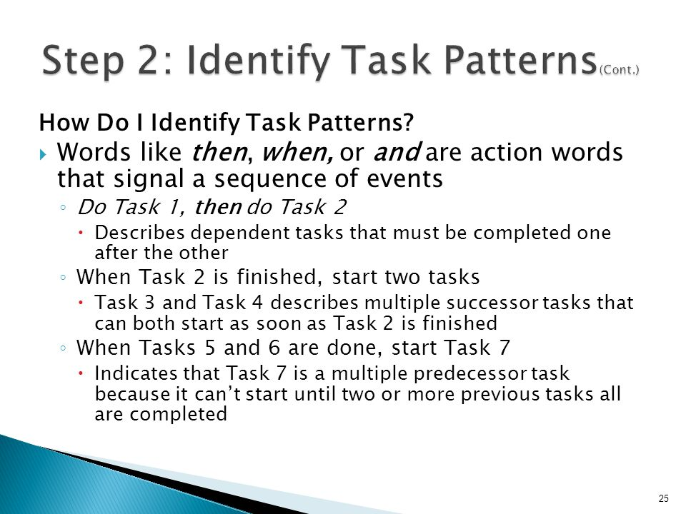 Step 2: Identify Task Patterns(Cont.)