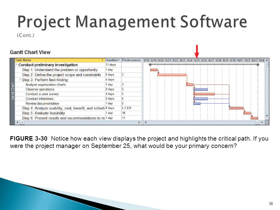Project Management Software (Cont.)