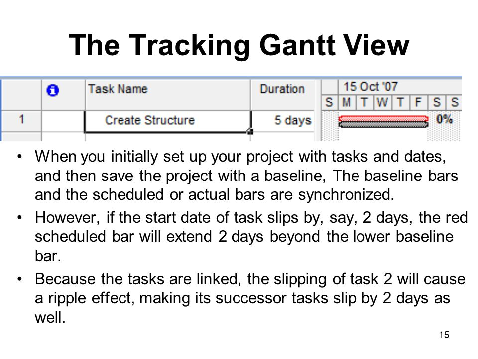 The Tracking Gantt View