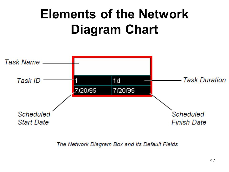 Elements of the Network Diagram Chart