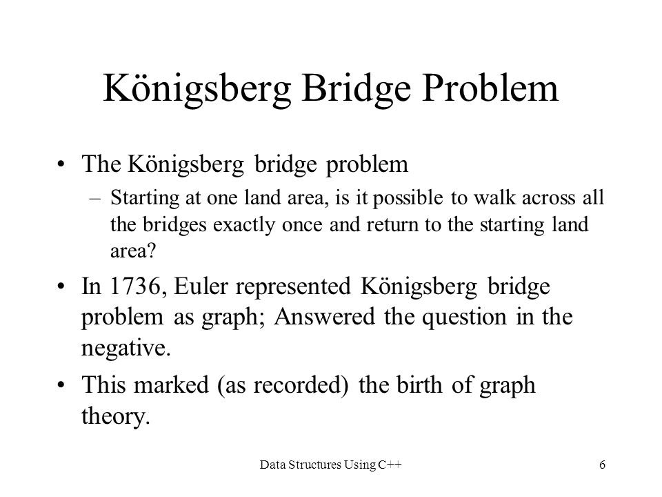 Königsberg Bridge Problem