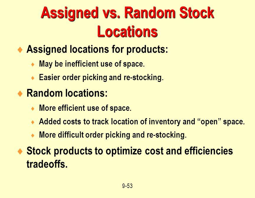 Assigned vs. Random Stock Locations